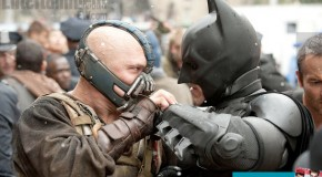 Three New Photos for 'Dark Knight Rises' Bane & Batman Head to Head