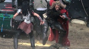 Thor 2: Ten On-Set Photos Reveal Sif & Thor in an Epic Battle