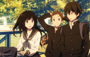 Hyouka anime where the main character is op