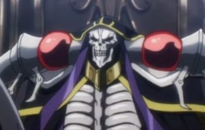 Overlord anime where the main character is op